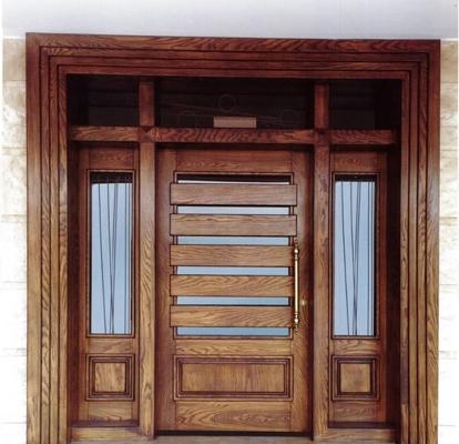 درب تمام چوبی لابی